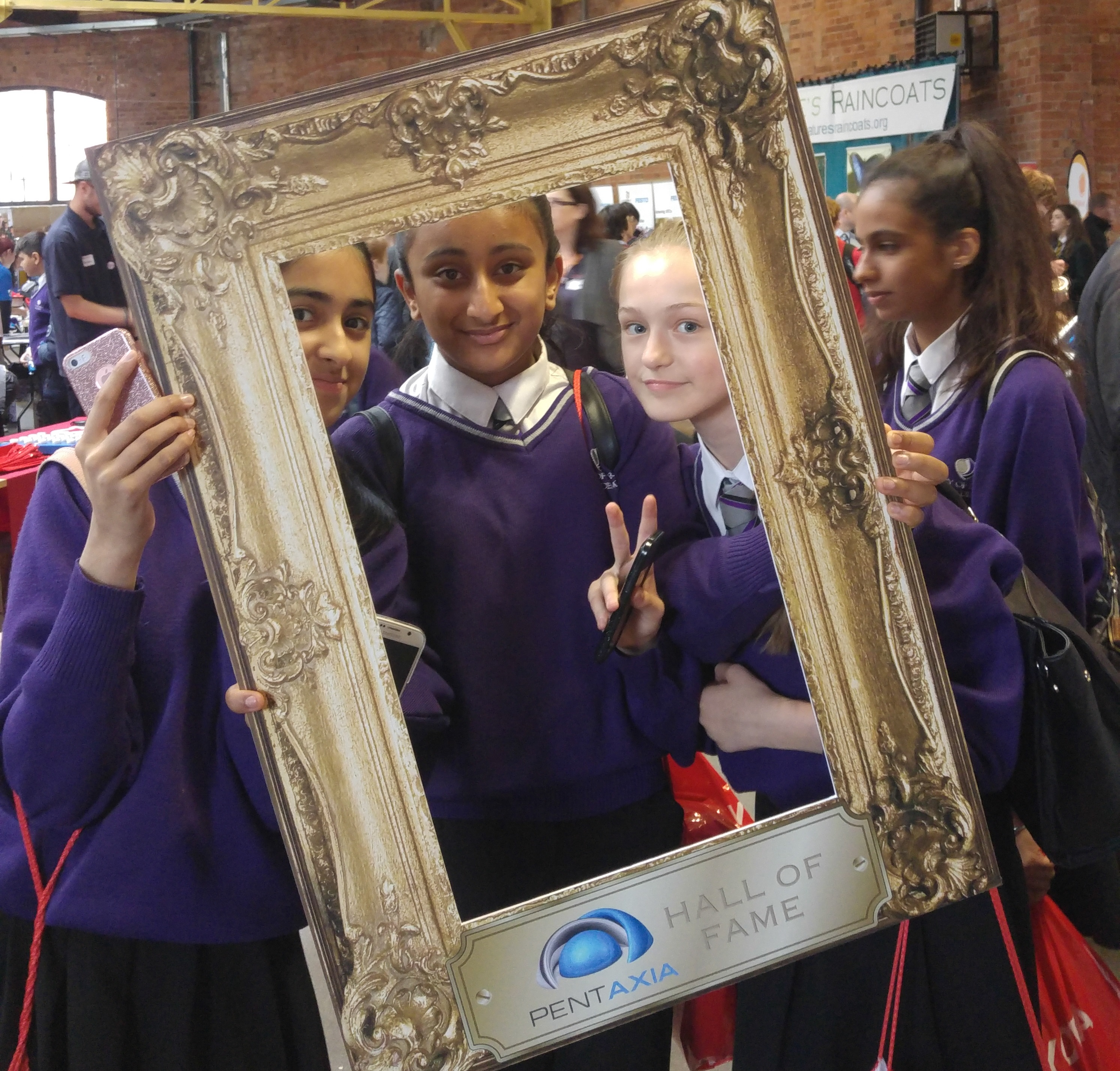 Students see their future 'selfie' with Pentaxia at the East Midlands Big Bang Fair